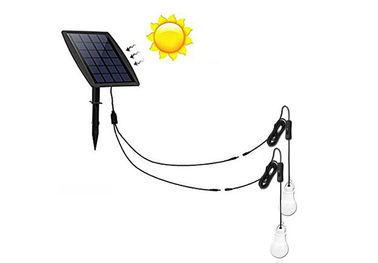 Cina Kabel Konektor 2in1 Sun Powered Outdoor Lights, 6000K Sun Powered Lights pemasok